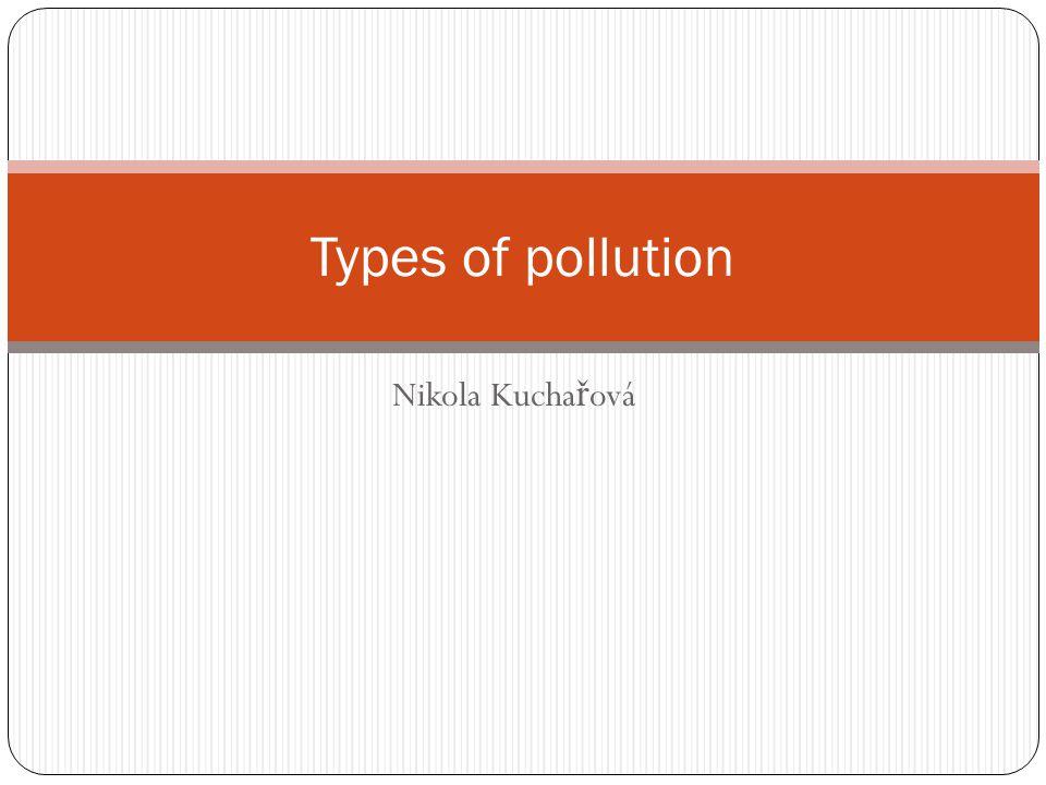 Nikola Kucha ř ová Types of pollution