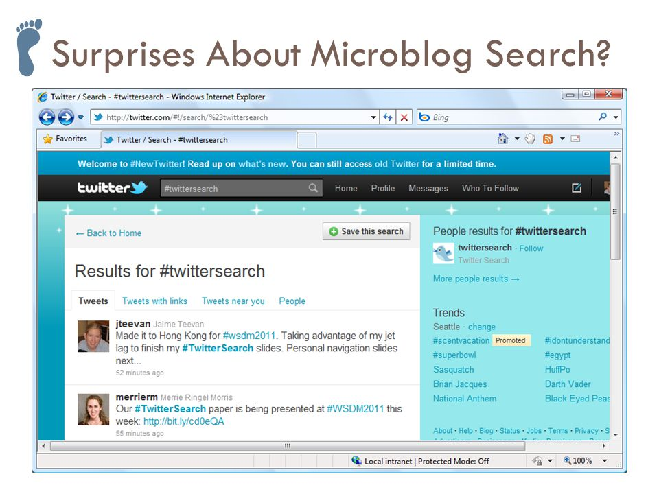 Surprises About Microblog Search
