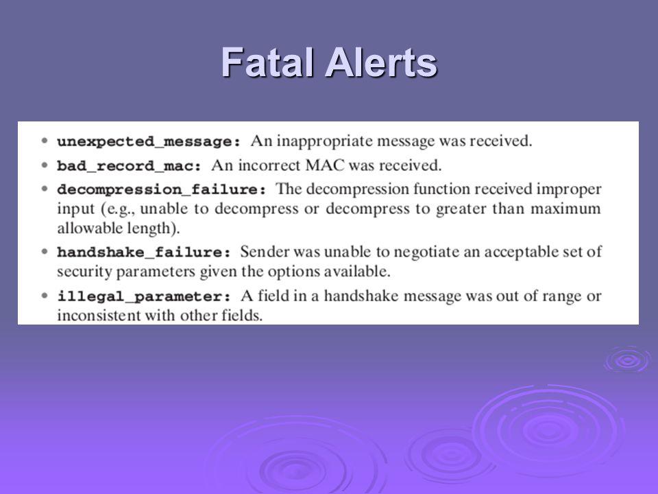 Fatal Alerts