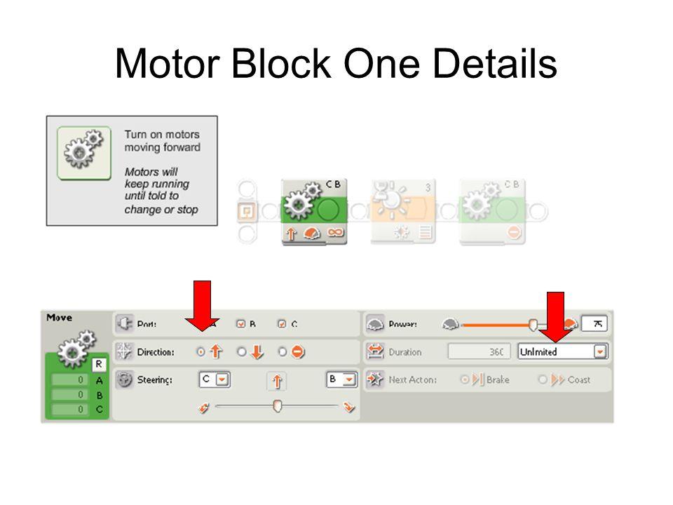 Motor Block One Details