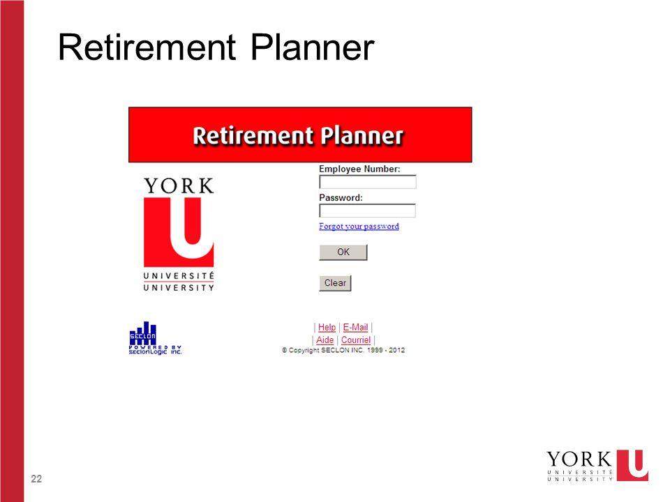 22 Retirement Planner