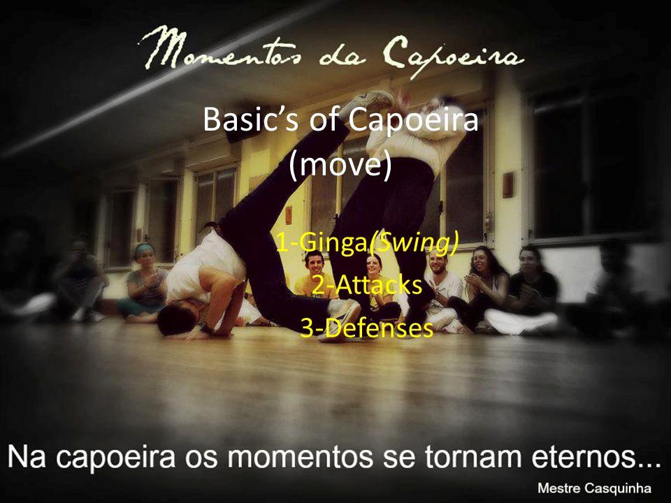 Basic's of Capoeira (move) 1-Ginga(Swing) 2-Attacks 3-Defenses