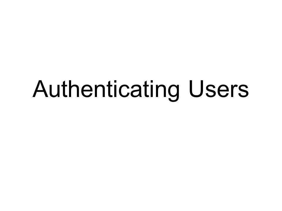 Comparison of Authentication Methods