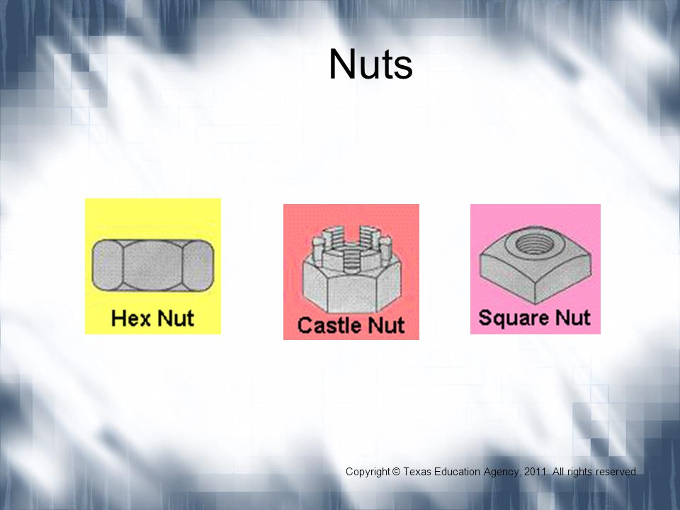 Nuts Copyright © Texas Education Agency, 2011. All rights reserved.