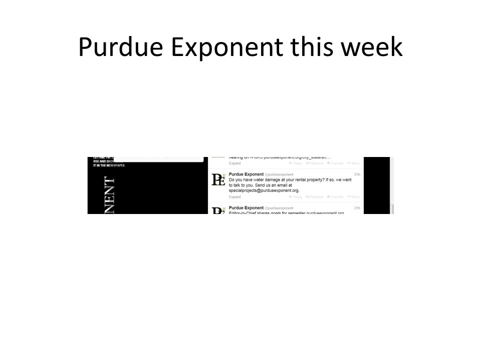 Purdue Exponent this week