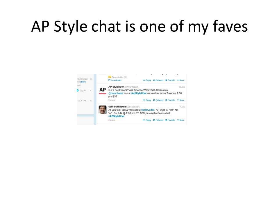 AP Style chat is one of my faves