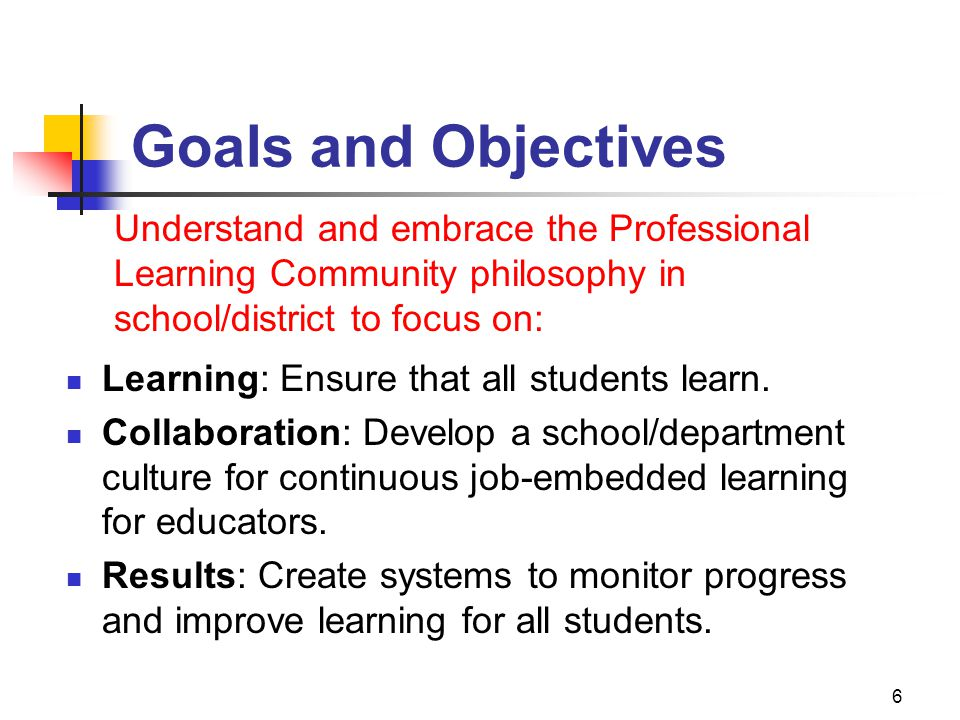 LEARNING FOR ALL COLLABORATIVE CULTURE RESULTS ORIENTATION HARD WORK & COMMITMENT BIG IDEAS 7