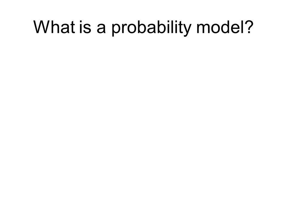 What is a probability model