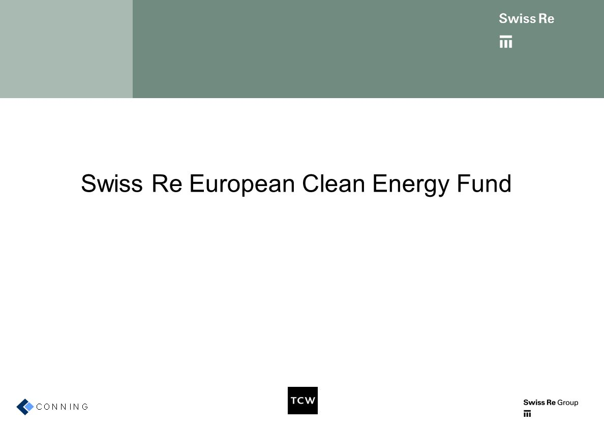 Swiss Re European Clean Energy Fund
