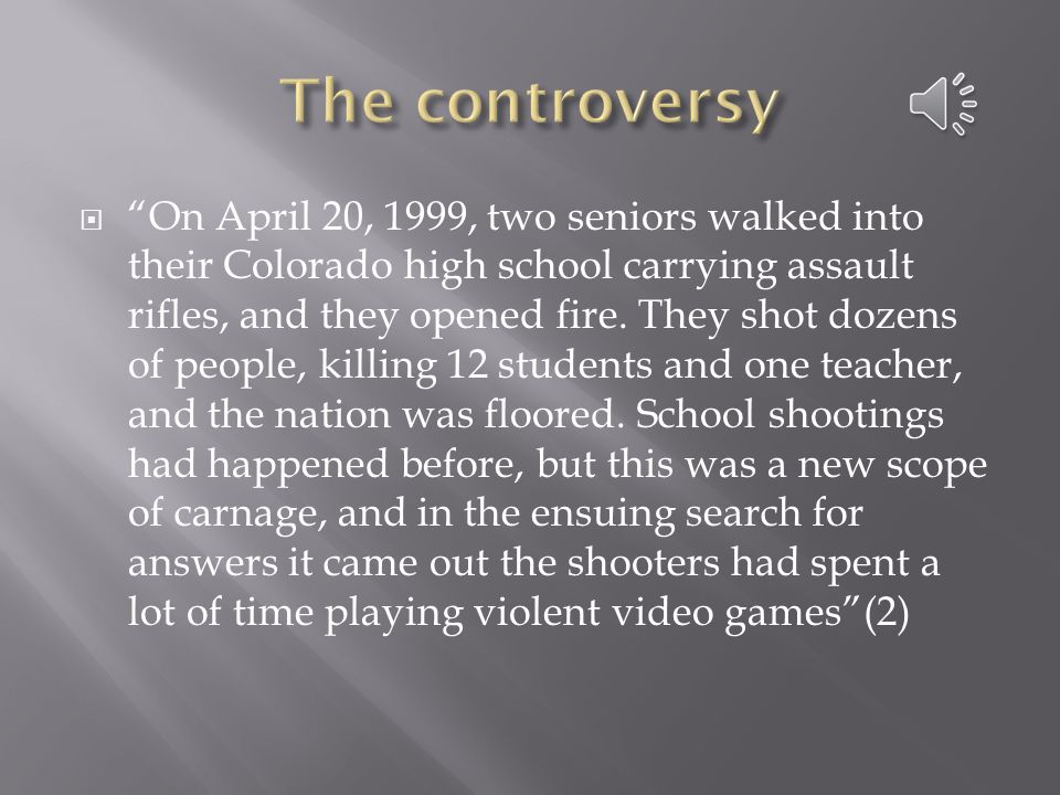  On April 20, 1999, two seniors walked into their Colorado high school carrying assault rifles, and they opened fire.