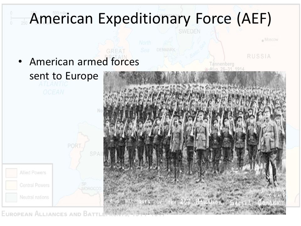 American Expeditionary Force (AEF) American armed forces sent to Europe