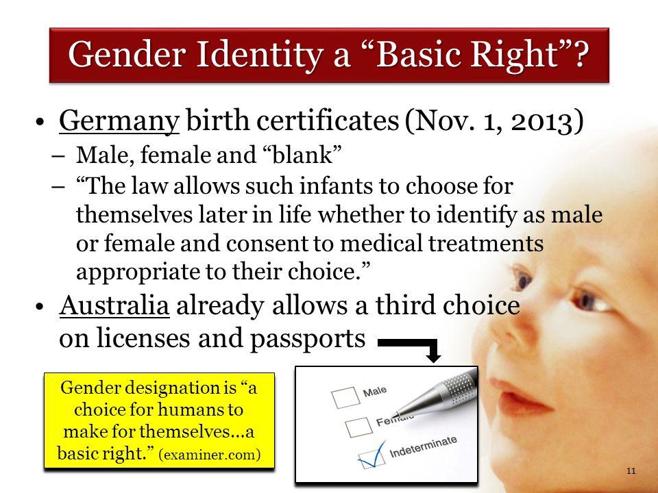 Germany birth certificates (Nov.