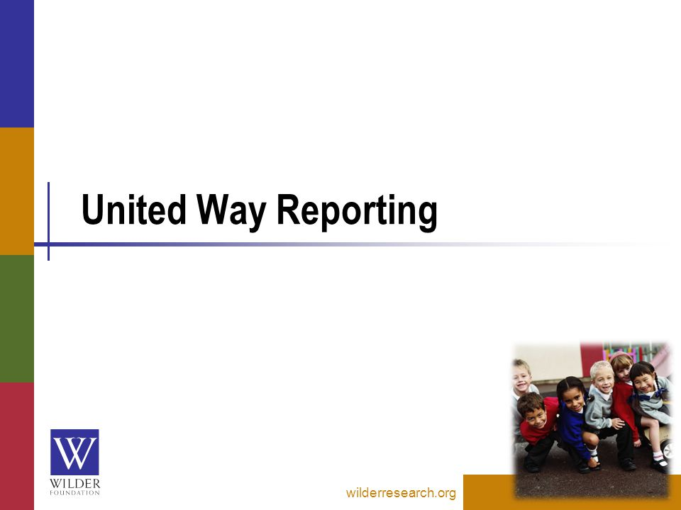 United Way Reporting wilderresearch.org