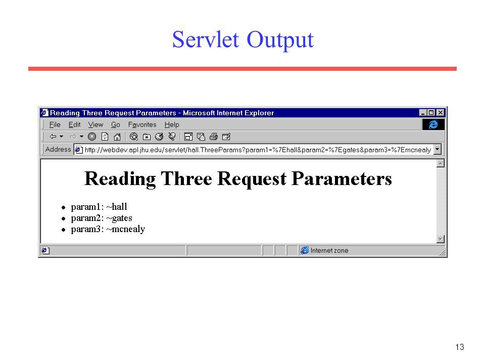 13 Servlet Output