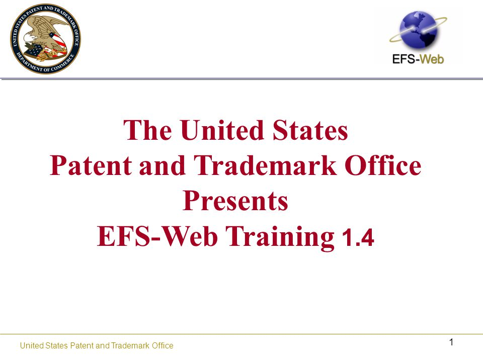 22 United States Patent and Trademark Office Adobe JobOptions What Adobe.JobOptions file does: It sets your Adobe Print Driver to use acceptable USPTO PDF settings And configures your settings by: Compressing Setting minimum resolution Embedding fonts USPTO JobOptions file and installation instructions can be found: http://www.uspto.gov/ebc/portal/tools.htm