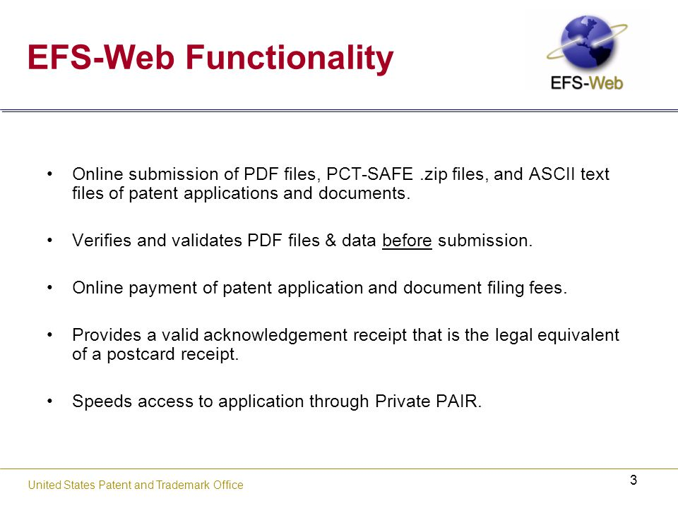 14 USPTO's new web-based patent application and document submission solution Portable Document Format (PDF)