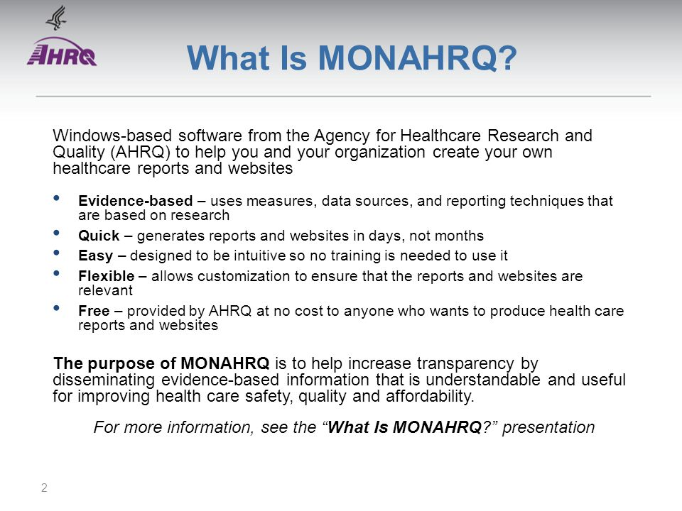 What Is MONAHRQ.