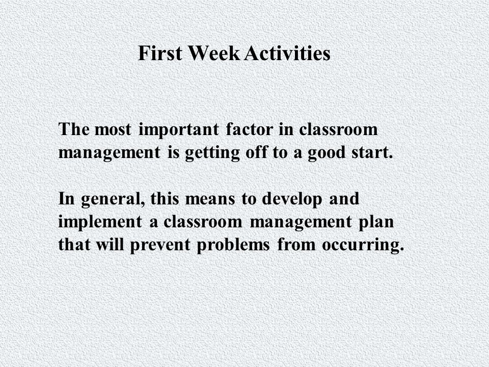 Decreasing Time-Off-Task Management/transition occurred mainly when the teacher was working with the whole class.