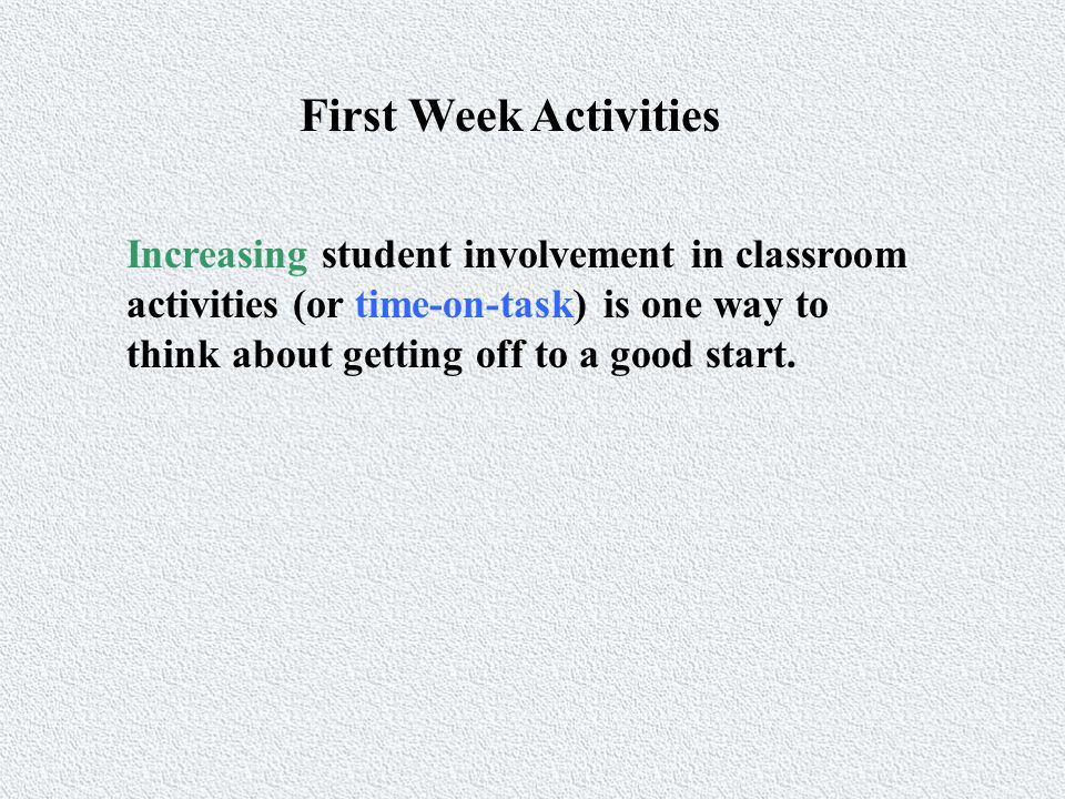 Decreasing Time-Off-Task The acronym of Ms.Duo can be used to help remember these categories.
