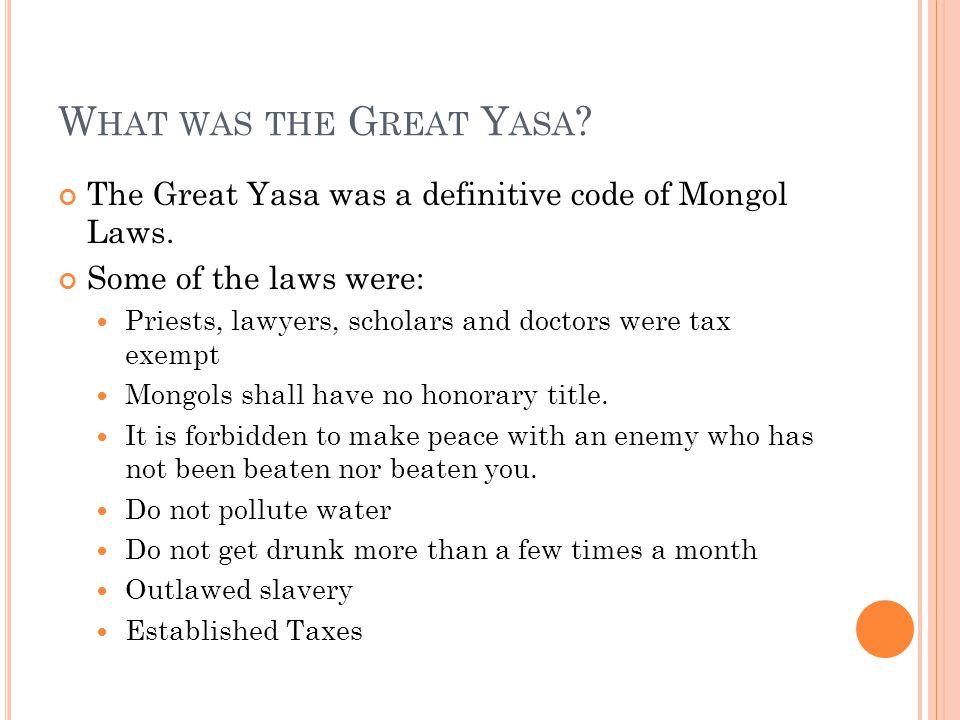 S O W HO T OOK O VER FOR G ENGHIS K HAN .Genghis Khan died in 1227.