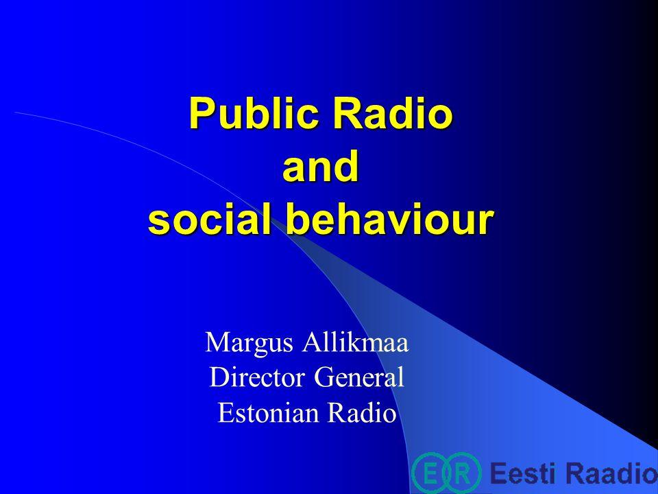 Importance of radio listening %, (Non-Estonians)
