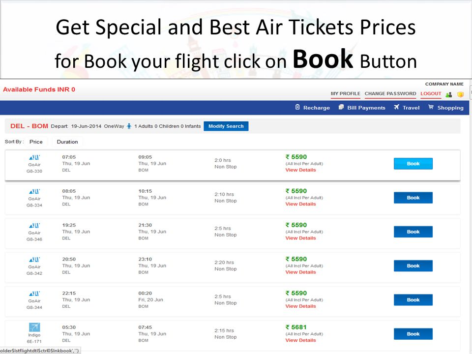 Get Special and Best Air Tickets Prices for Book your flight click on Book Button