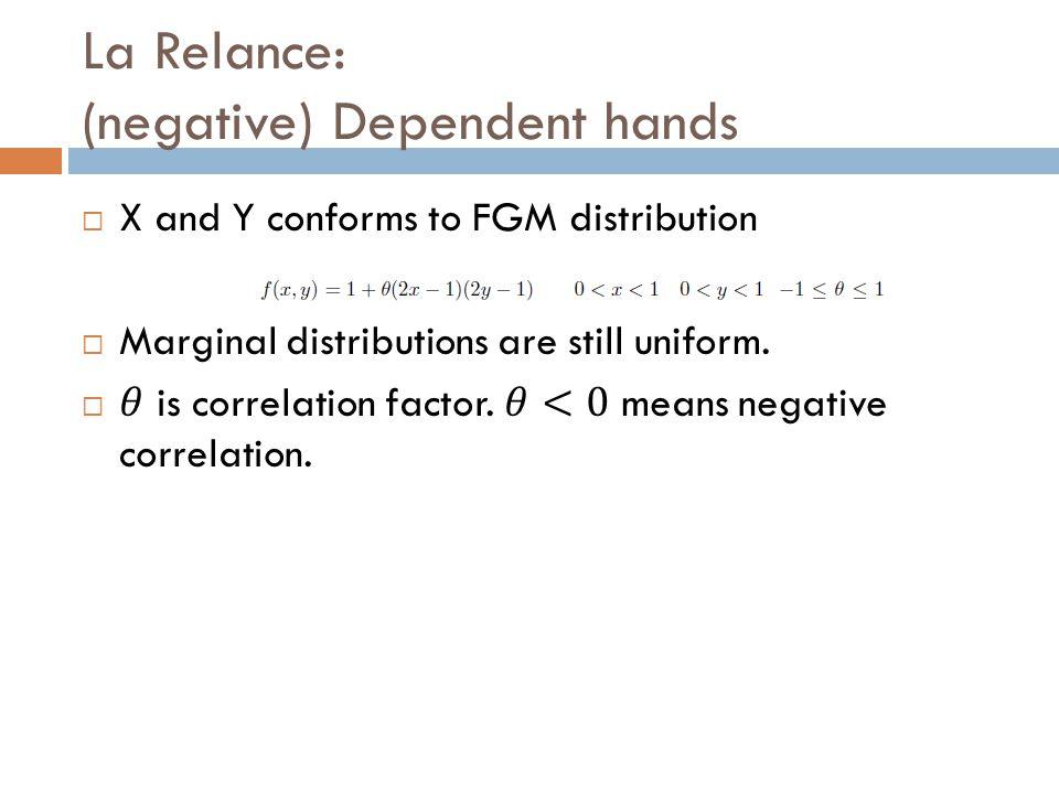 La Relance: (negative) Dependent hands
