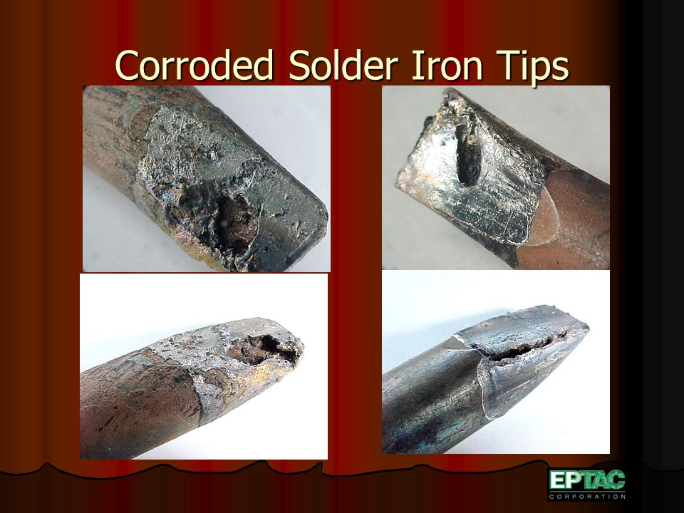 Corroded Solder Iron Tips