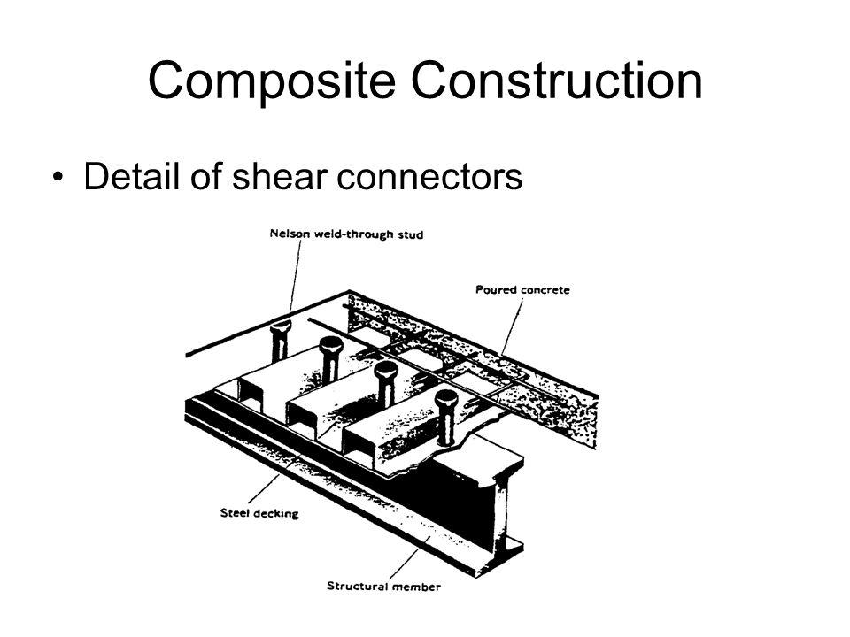 Composite Construction Detail of shear connectors