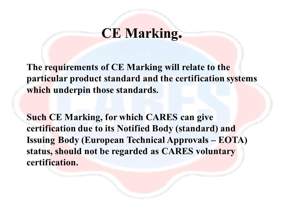 CE Marking.