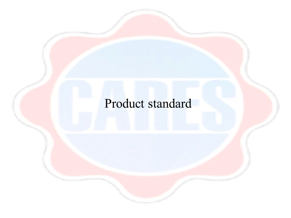 Product standard