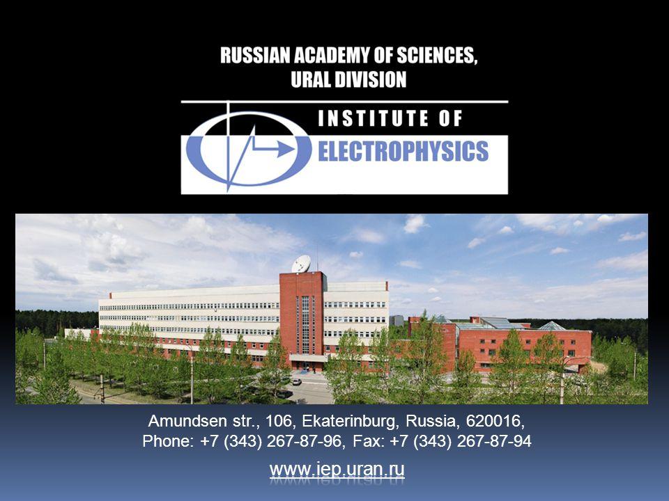 Amundsen str., 106, Ekaterinburg, Russia, 620016, Phone: +7 (343) 267-87-96, Fax: +7 (343) 267-87-94