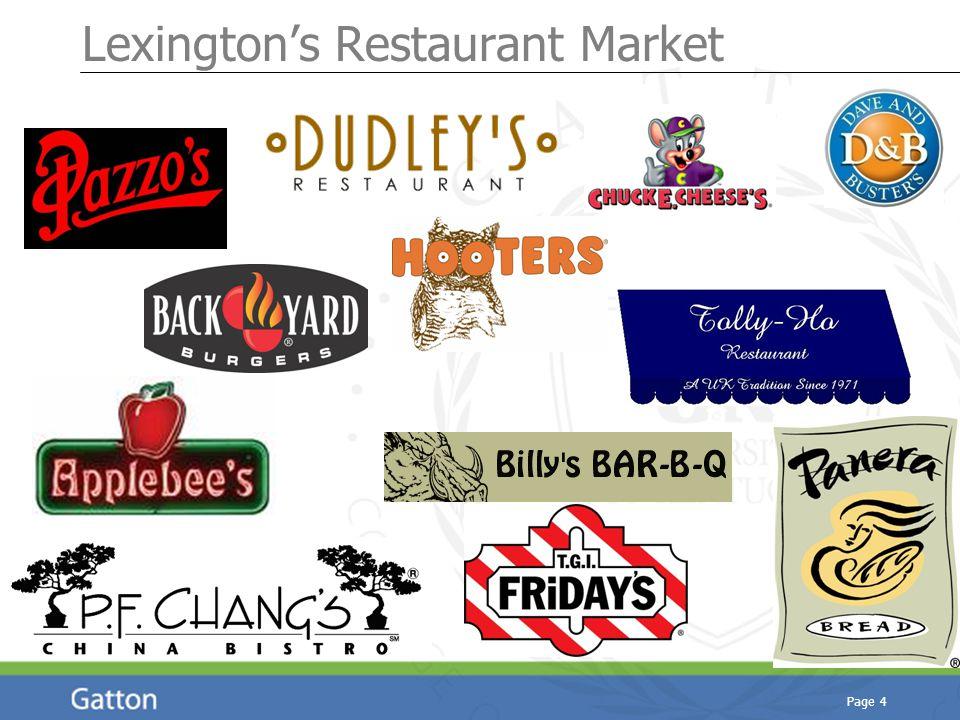 Page 4 Lexington's Restaurant Market