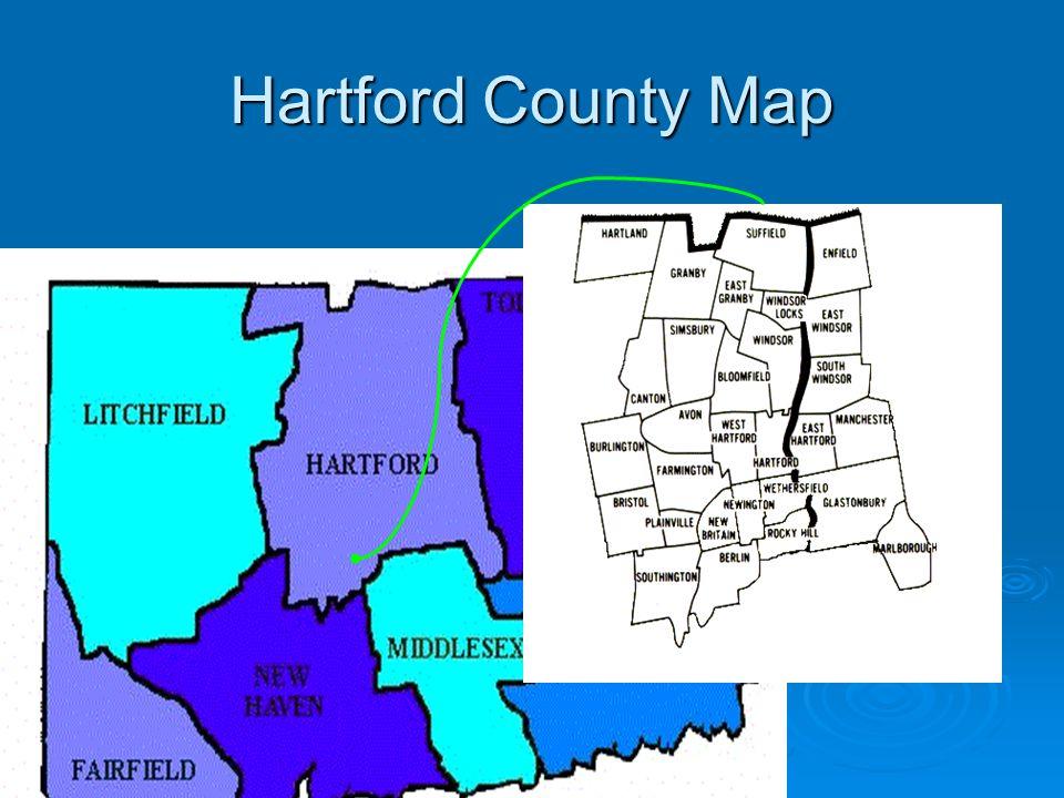 Hartford County Map