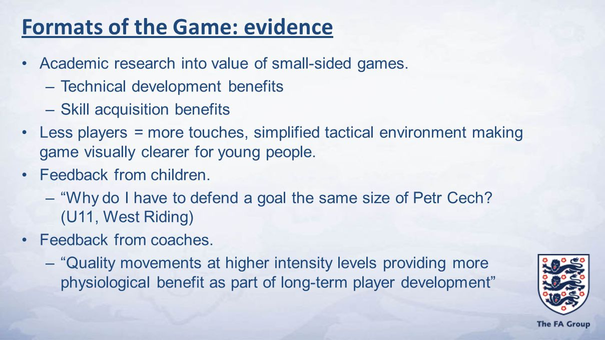 Academic research into value of small-sided games.