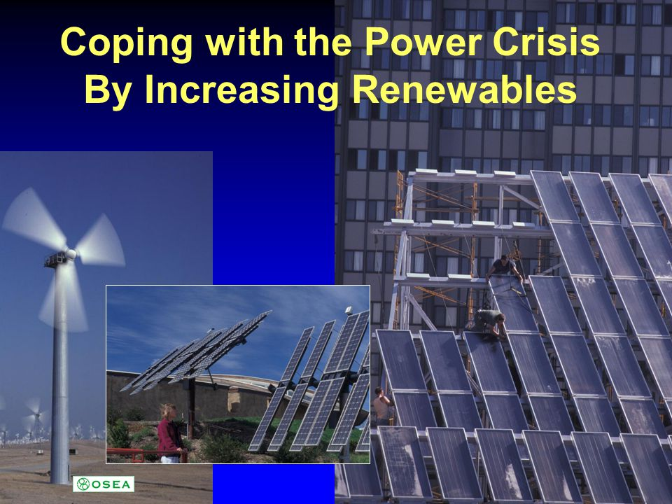 Coping with the Power Crisis By Increasing Renewables