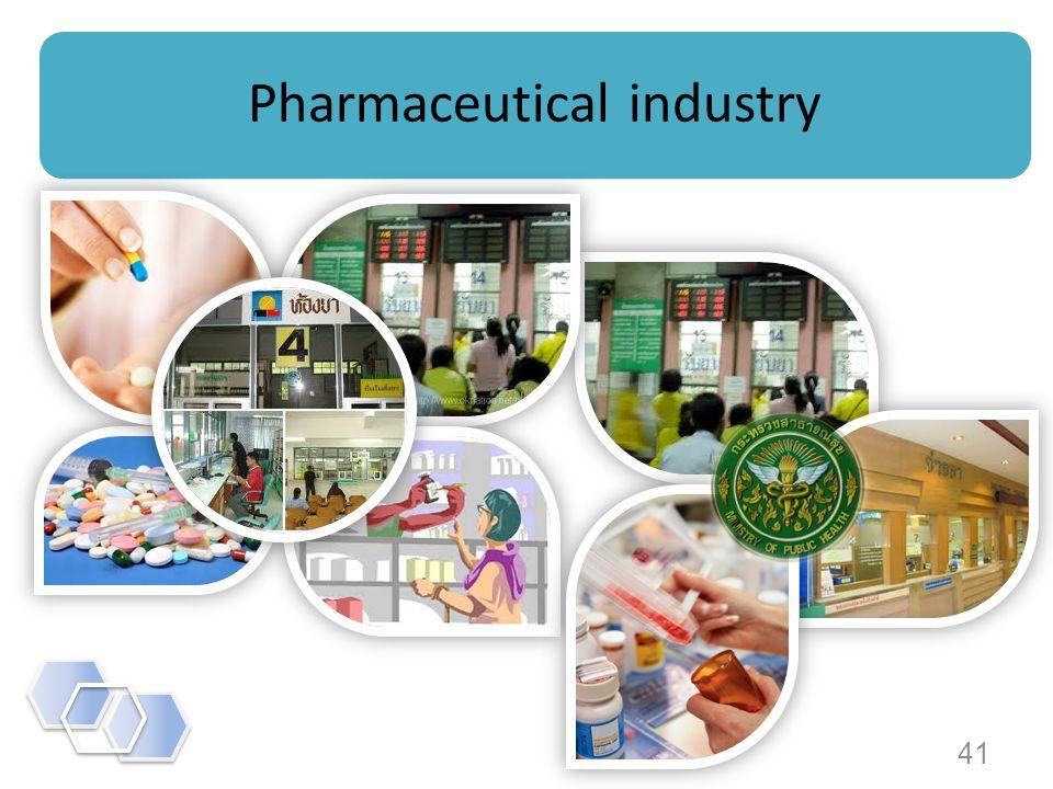 41 Pharmaceutical industry