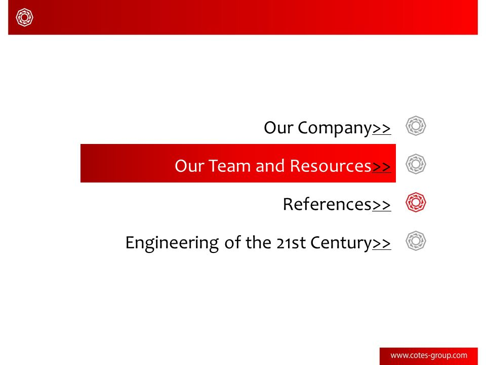 Our Company>>>> Our Team and Resources>>>> References>>>> Engineering of the 21st Century>>>>