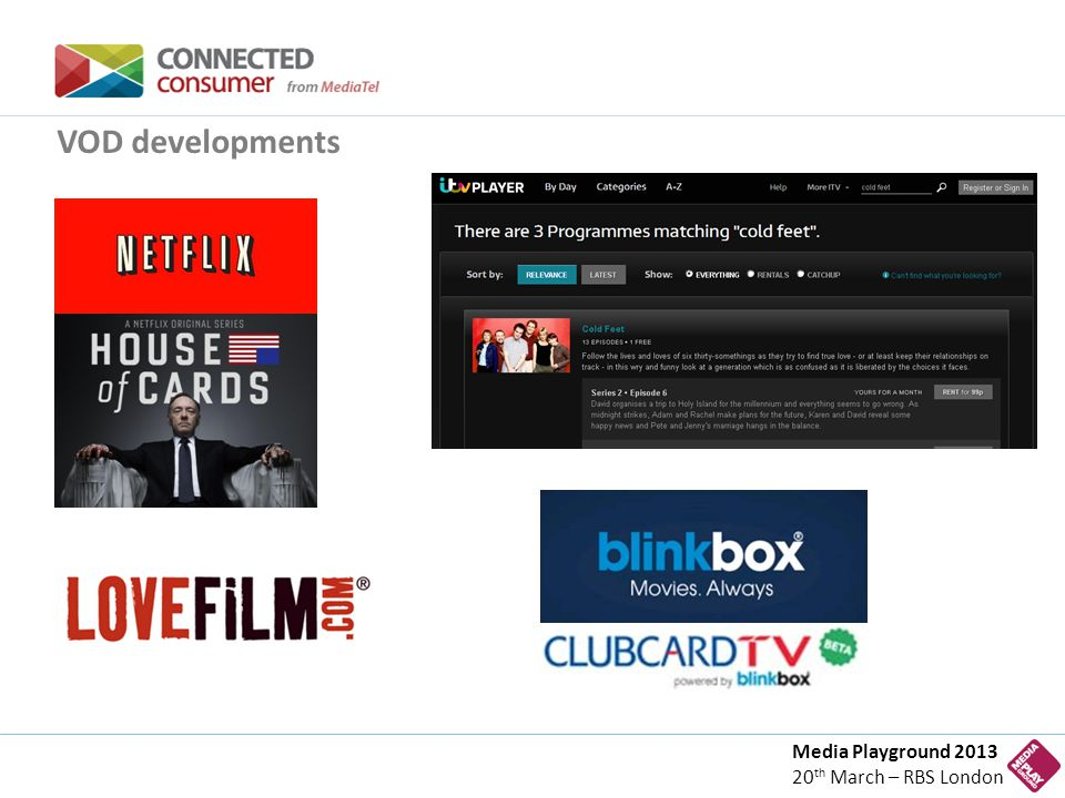 Media Playground 2013 20 th March – RBS London VOD developments