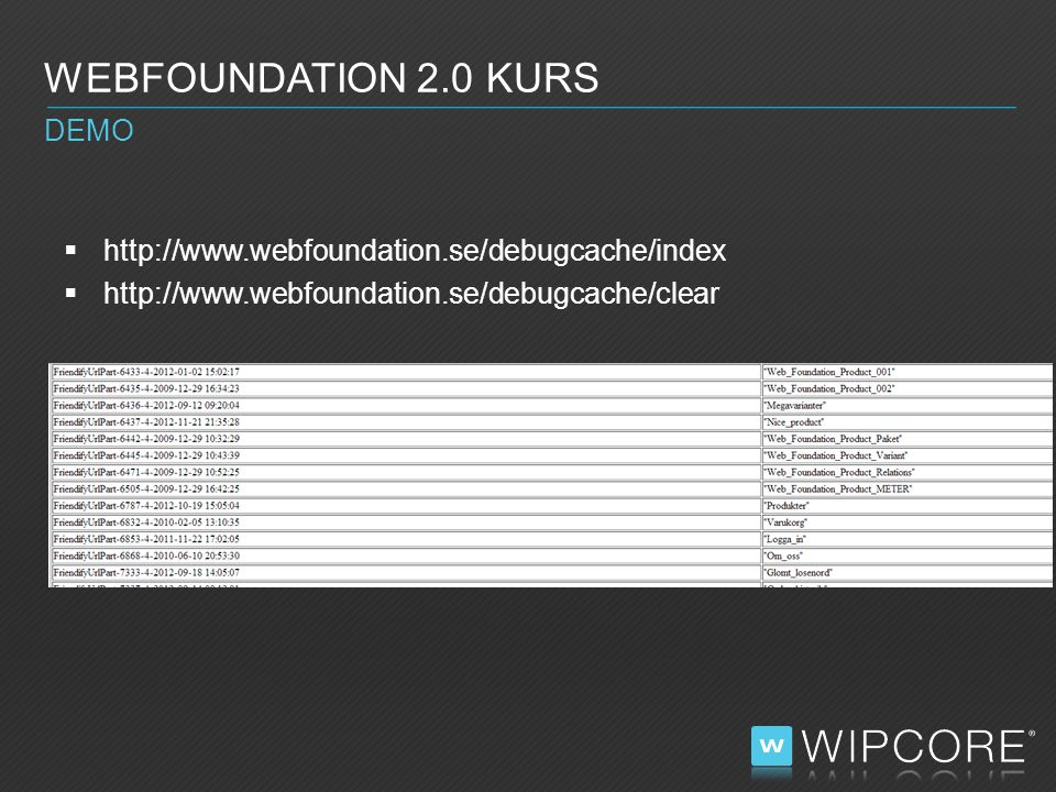WEBFOUNDATION 2.0 KURS DEMO