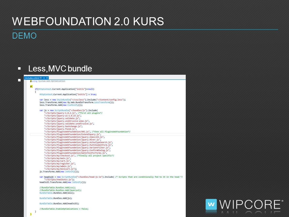  Xml transformation, SlowSheeta  WEBFOUNDATION 2.0 KURS DEMO