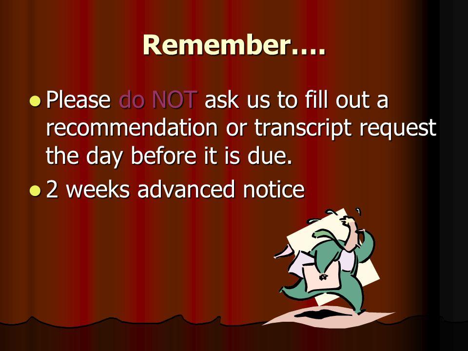 Remember….