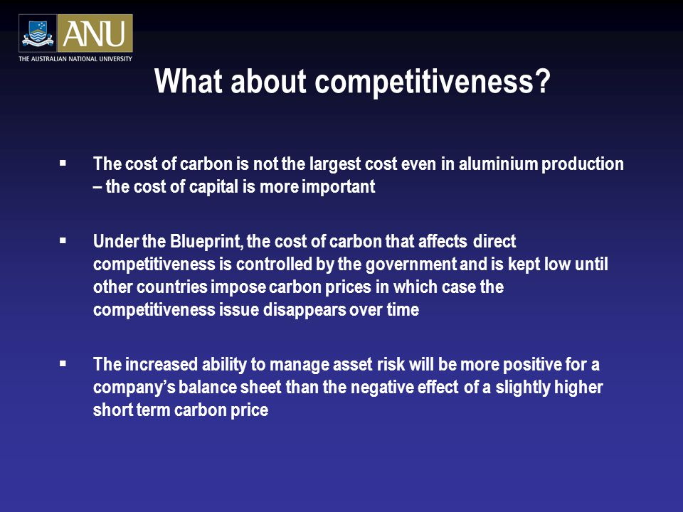 What about competitiveness.