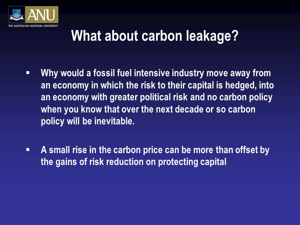 What about carbon leakage.