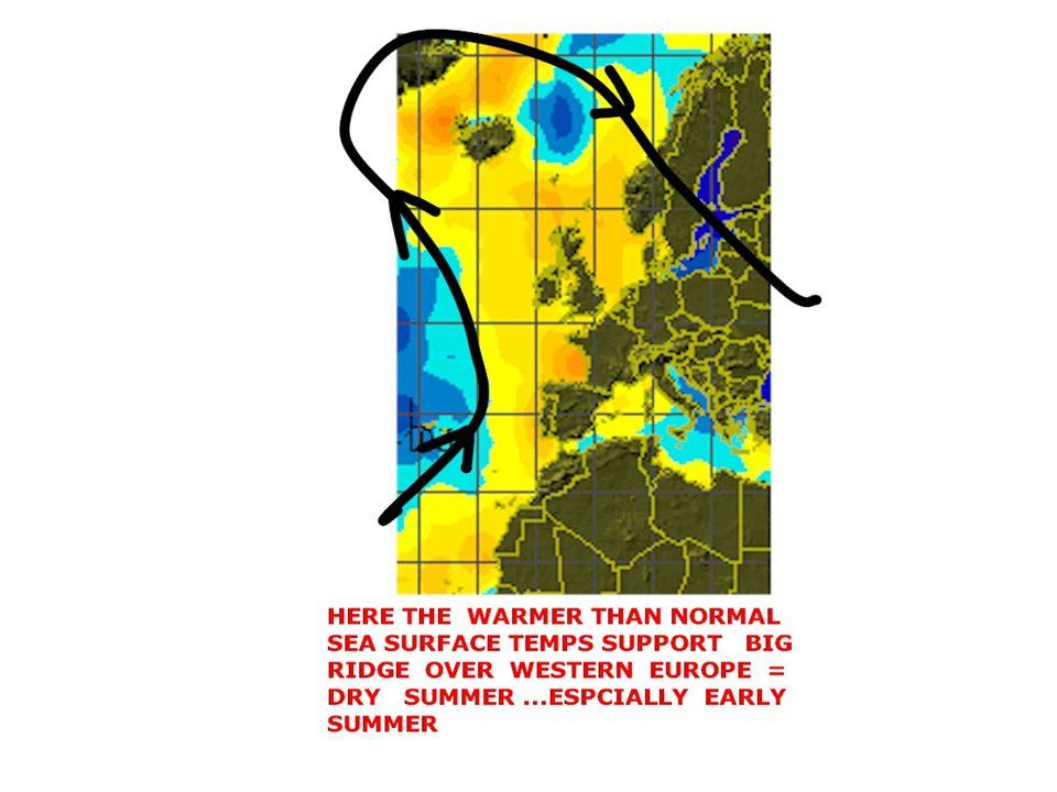 EUROPE RAINFALL RELATIVE TO NORMAL FEB 1- APRIL 30