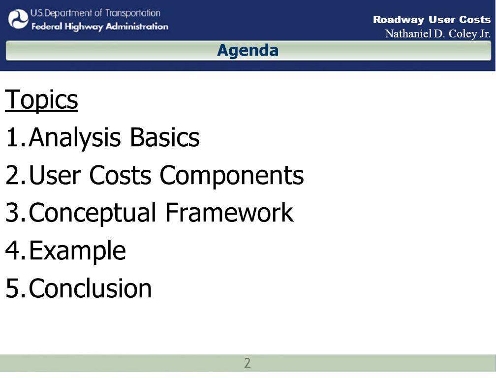 3 Roadway User Costs Nathaniel D.Coley Jr.