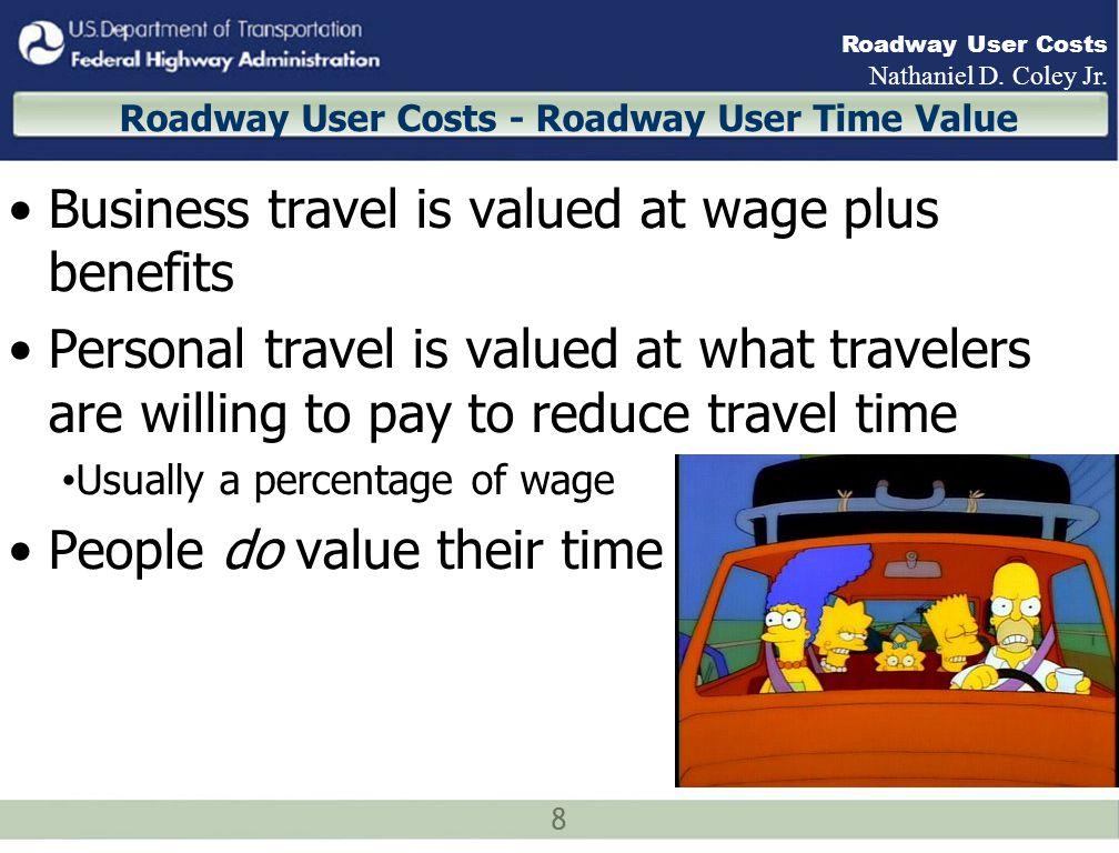 19 Roadway User Costs Nathaniel D.Coley Jr.