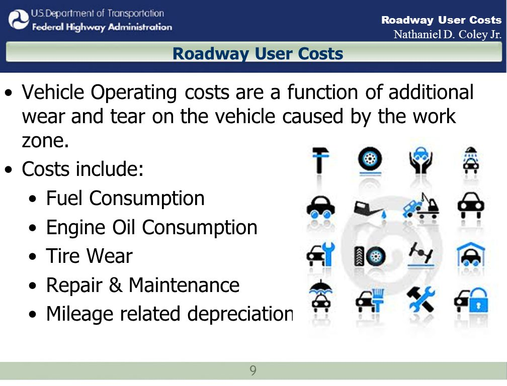 20 Roadway User Costs Nathaniel D. Coley Jr. Example Results