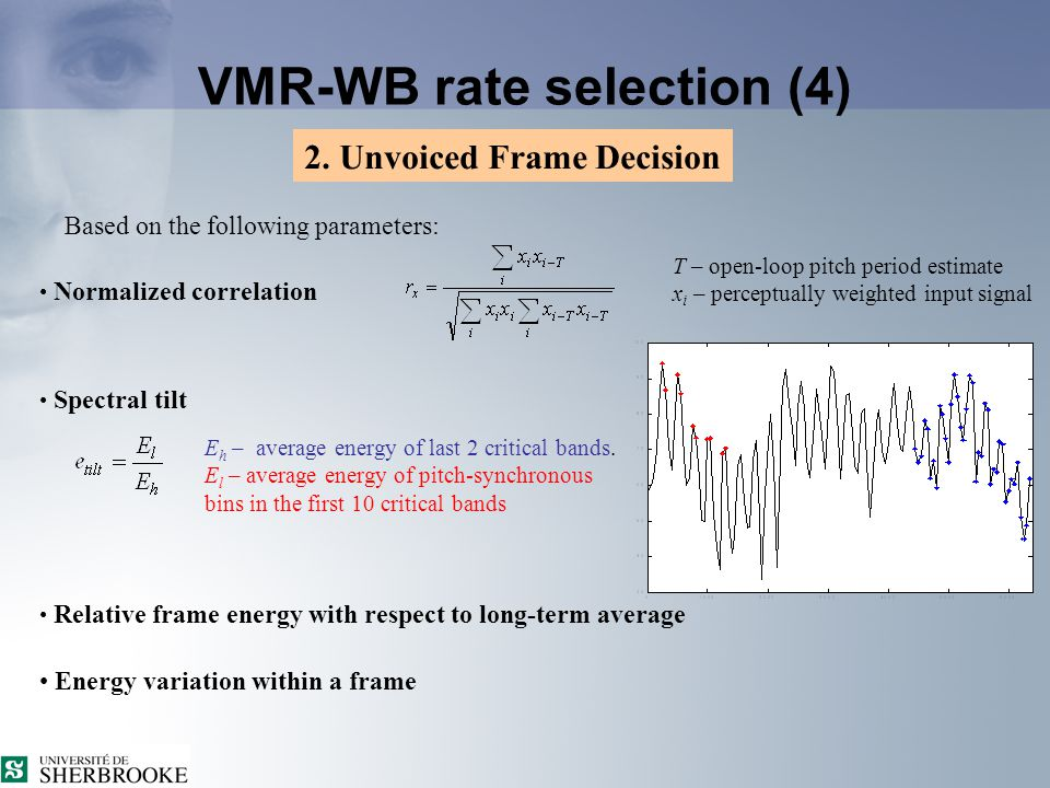 VMR-WB rate selection (4) 2.