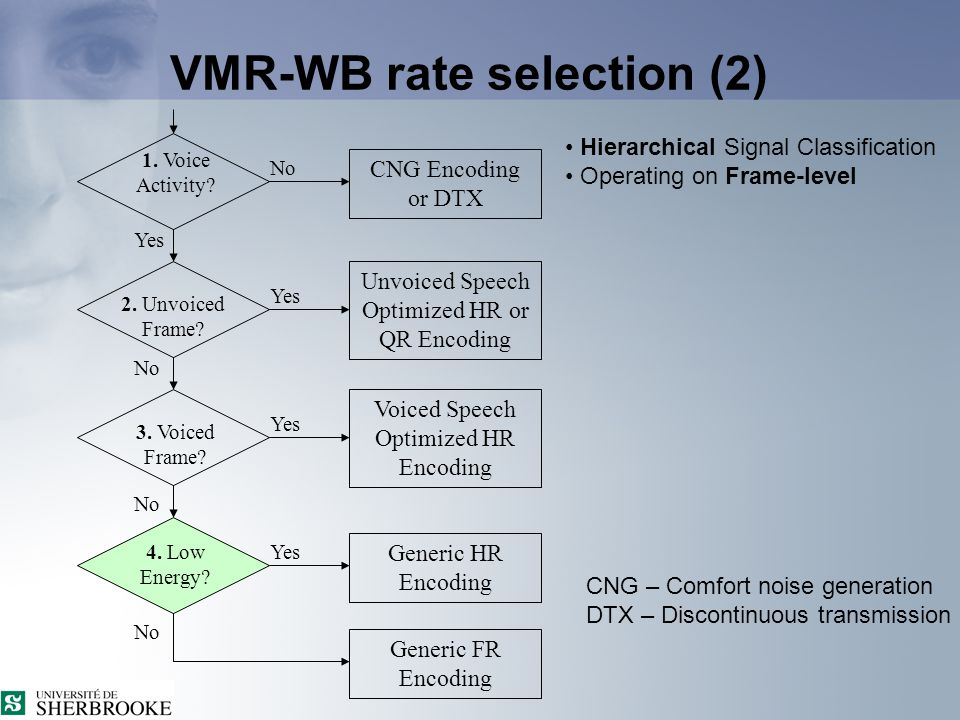 VMR-WB rate selection (5) 3.